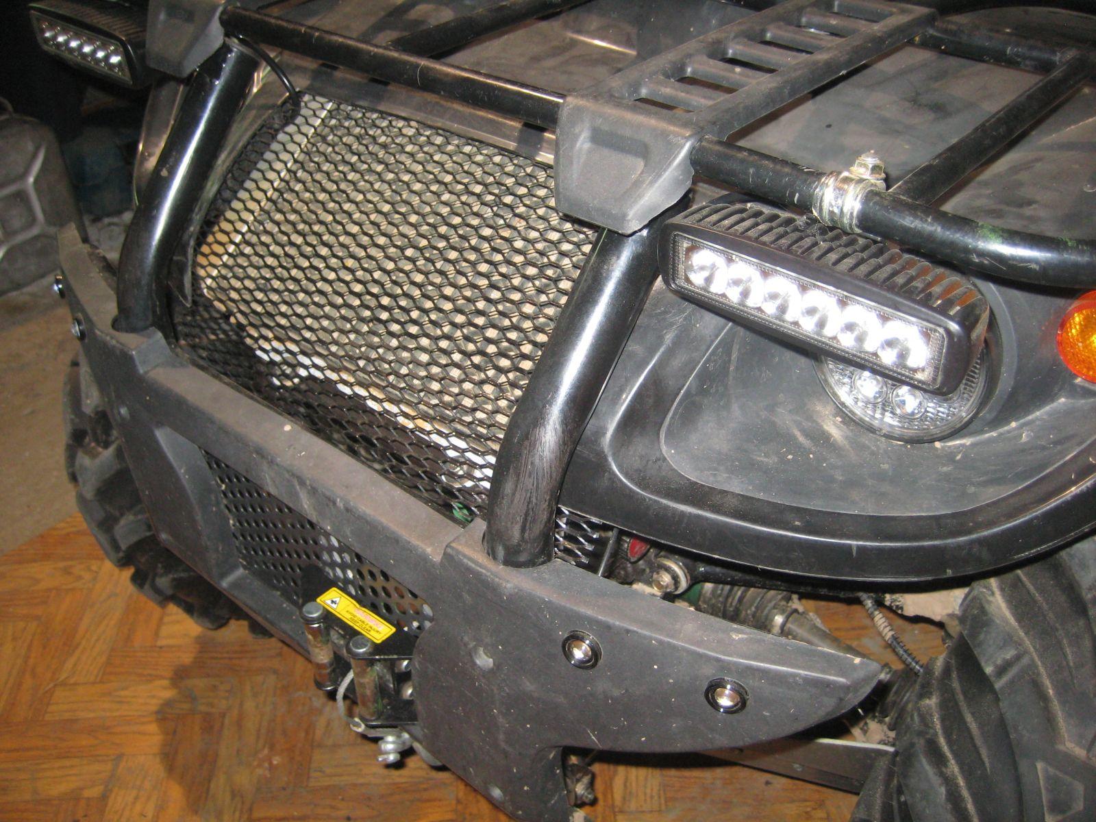 Вынос радиатора на квадроцикл своими руками фото